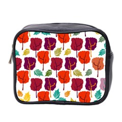 Tree Pattern Background Mini Toiletries Bag 2 Side