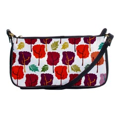 Tree Pattern Background Shoulder Clutch Bags