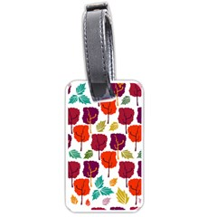 Tree Pattern Background Luggage Tags (two Sides)