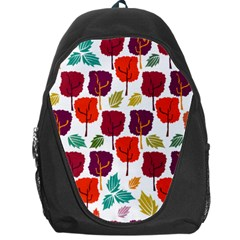 Tree Pattern Background Backpack Bag