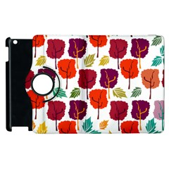 Tree Pattern Background Apple Ipad 2 Flip 360 Case