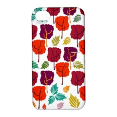 Tree Pattern Background Apple Iphone 4/4s Hardshell Case With Stand