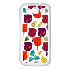 Tree Pattern Background Samsung Galaxy S3 Back Case (white)