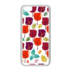 Tree Pattern Background Apple Iphone 5c Seamless Case (white)