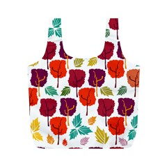 Tree Pattern Background Full Print Recycle Bags (m)