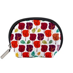 Tree Pattern Background Accessory Pouches (small)