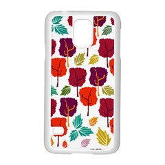 Tree Pattern Background Samsung Galaxy S5 Case (white)