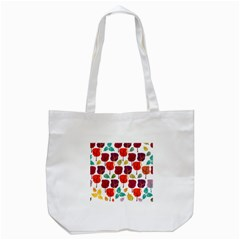 Tree Pattern Background Tote Bag (white)