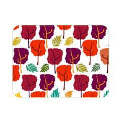 Tree Pattern Background Double Sided Flano Blanket (mini)