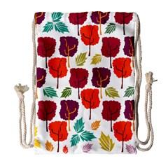 Tree Pattern Background Drawstring Bag (Large)