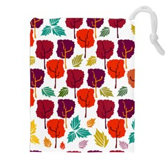 Tree Pattern Background Drawstring Pouches (xxl)