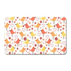 Animal Pattern Happy Birds Seamless Pattern Magnet (rectangular)