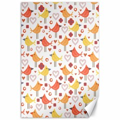 Animal Pattern Happy Birds Seamless Pattern Canvas 24  X 36