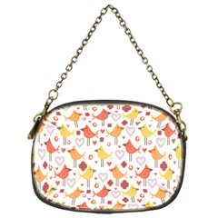 Animal Pattern Happy Birds Seamless Pattern Chain Purses (one Side)