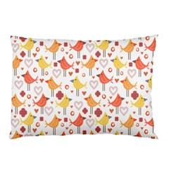 Animal Pattern Happy Birds Seamless Pattern Pillow Case