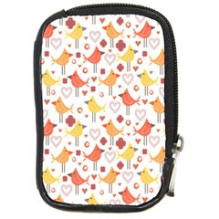 Animal Pattern Happy Birds Seamless Pattern Compact Camera Cases