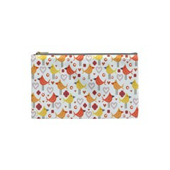 Animal Pattern Happy Birds Seamless Pattern Cosmetic Bag (small)