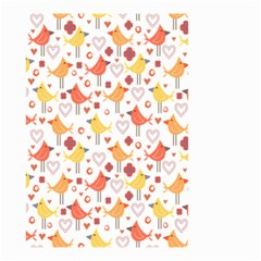 Animal Pattern Happy Birds Seamless Pattern Small Garden Flag (two Sides)
