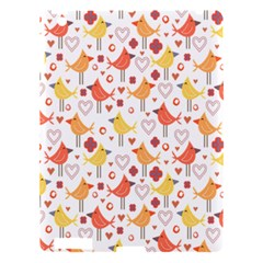 Animal Pattern Happy Birds Seamless Pattern Apple Ipad 3/4 Hardshell Case