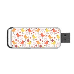 Animal Pattern Happy Birds Seamless Pattern Portable Usb Flash (one Side)
