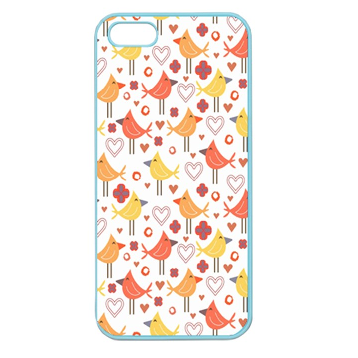 Animal Pattern Happy Birds Seamless Pattern Apple Seamless iPhone 5 Case (Color)