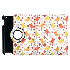Animal Pattern Happy Birds Seamless Pattern Apple Ipad 3/4 Flip 360 Case