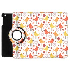 Animal Pattern Happy Birds Seamless Pattern Apple Ipad Mini Flip 360 Case