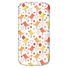 Animal Pattern Happy Birds Seamless Pattern Samsung Galaxy S3 S Iii Classic Hardshell Back Case