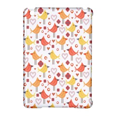 Animal Pattern Happy Birds Seamless Pattern Apple Ipad Mini Hardshell Case (compatible With Smart Cover)