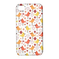 Animal Pattern Happy Birds Seamless Pattern Apple Iphone 4/4s Hardshell Case With Stand