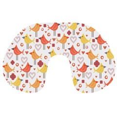 Animal Pattern Happy Birds Seamless Pattern Travel Neck Pillows
