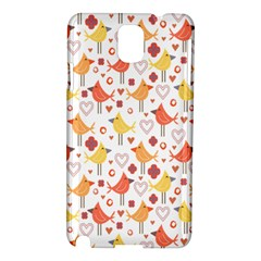 Animal Pattern Happy Birds Seamless Pattern Samsung Galaxy Note 3 N9005 Hardshell Case
