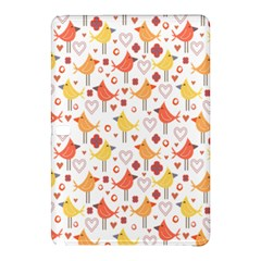 Animal Pattern Happy Birds Seamless Pattern Samsung Galaxy Tab Pro 12 2 Hardshell Case