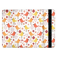 Animal Pattern Happy Birds Seamless Pattern Samsung Galaxy Tab Pro 12 2  Flip Case