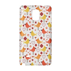 Animal Pattern Happy Birds Seamless Pattern Samsung Galaxy Note 4 Hardshell Case