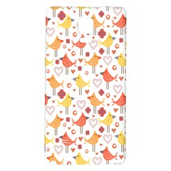 Animal Pattern Happy Birds Seamless Pattern Galaxy Note 4 Back Case