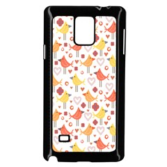 Animal Pattern Happy Birds Seamless Pattern Samsung Galaxy Note 4 Case (Black)
