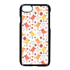 Animal Pattern Happy Birds Seamless Pattern Apple Iphone 7 Seamless Case (black)