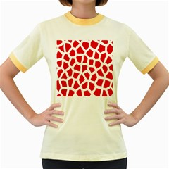 Animal Animalistic Pattern Women s Fitted Ringer T Shirts