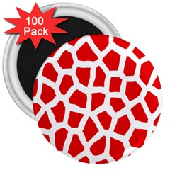 Animal Animalistic Pattern 3  Magnets (100 Pack)
