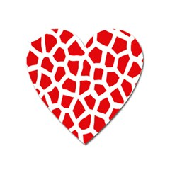 Animal Animalistic Pattern Heart Magnet