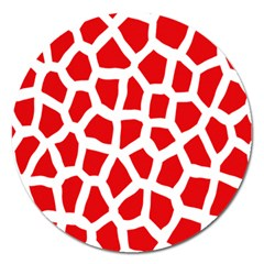Animal Animalistic Pattern Magnet 5  (round)