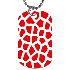 Animal Animalistic Pattern Dog Tag (two Sides)
