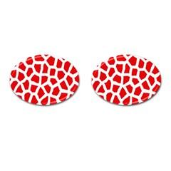 Animal Animalistic Pattern Cufflinks (oval)