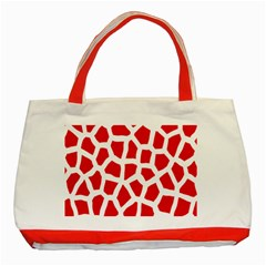 Animal Animalistic Pattern Classic Tote Bag (red)