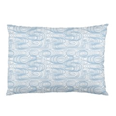 Wind Waves Grey Pillow Case