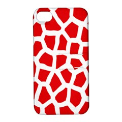 Animal Animalistic Pattern Apple Iphone 4/4s Hardshell Case With Stand