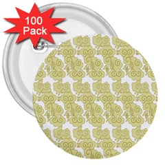 Waves Flower 3  Buttons (100 pack)