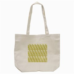Waves Flower Tote Bag (cream)