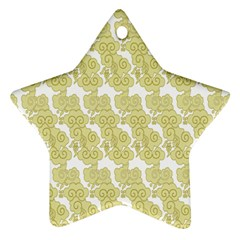 Waves Flower Star Ornament (two Sides)
